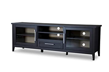 Baxton Studio TV Stand 1 Drawer, Espresso