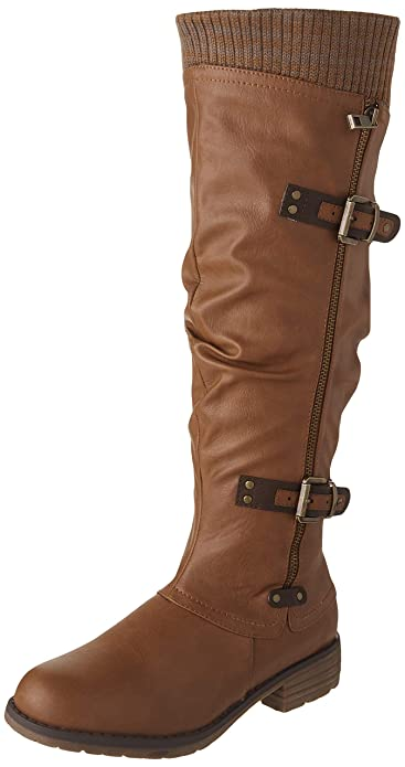 c0b36a594 DREAM PAIRS Women's Depp Side Zipper Knee High Riding Boots: Amazon ...