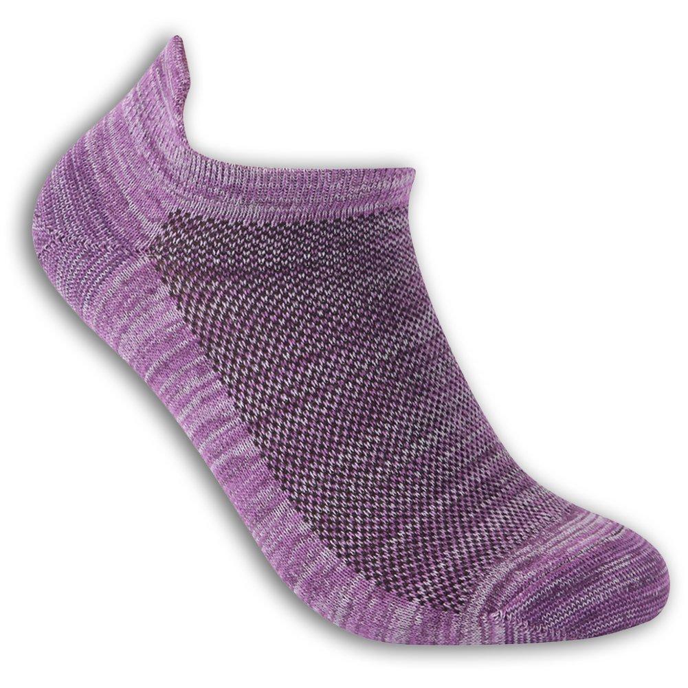 luccalilyユニセックスヒールタブMoisture Wickingローカットカジュアルスポーツ靴下1 , 3ペア B079DLVCZ7 Small|1 pair purple 1 pair purple Small