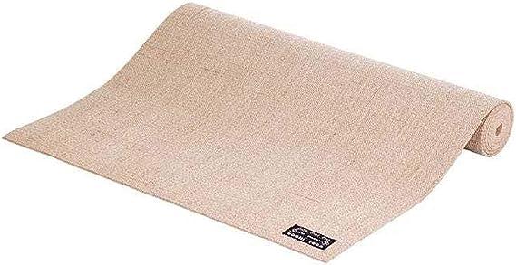 Tapete de yoga 100% ecológico Juta Pro, indicado para ambientes externos, excelente aderência e durável 4mm 183cm x 60cm Bodhi (Bege)