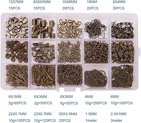 20g Crimp End Beads Round 4//6mm Jewelry Making Findings Wholesale 50-120pcs