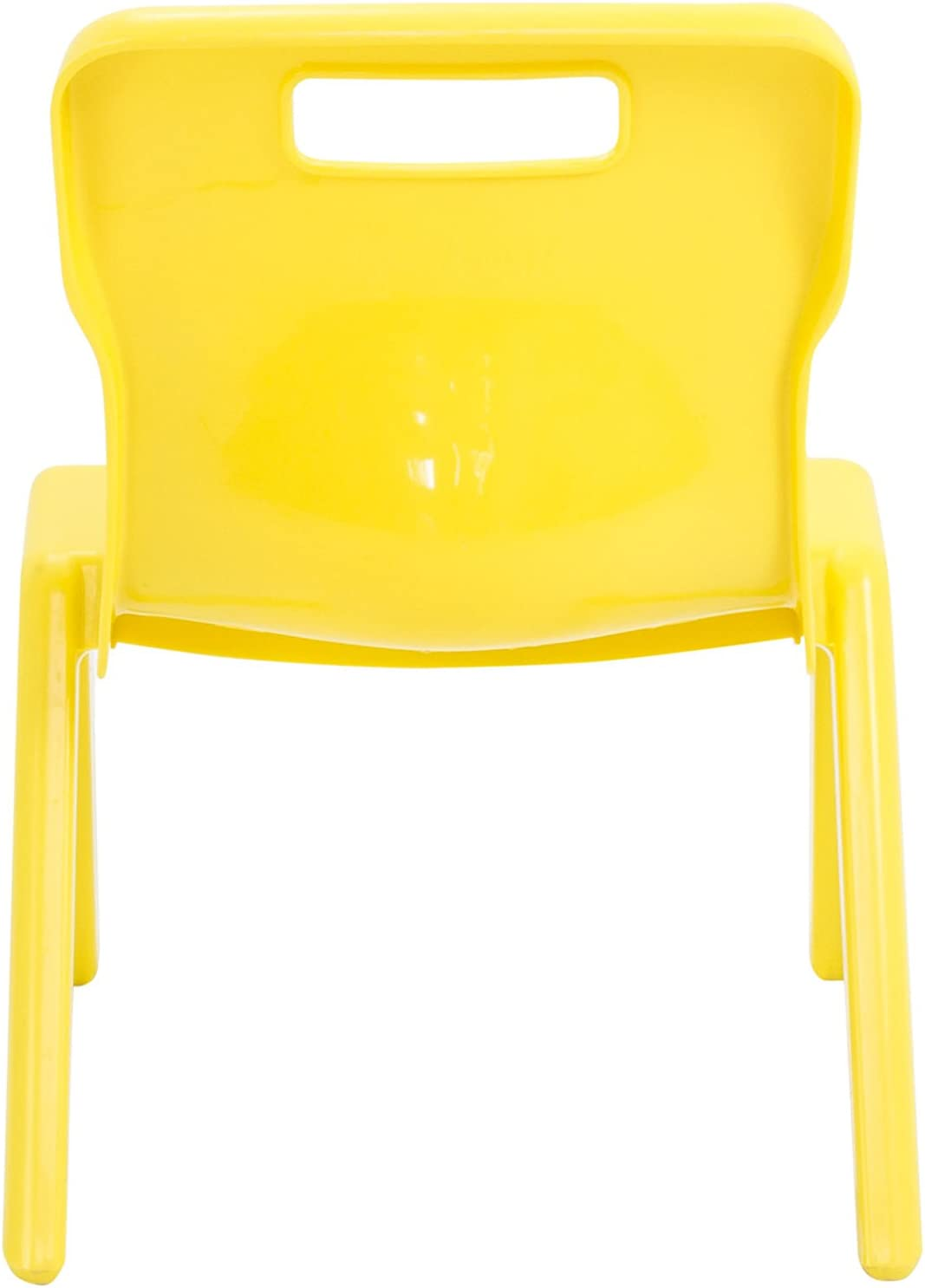 Titan One Piece Classroom Chair Size 1 for Ages 1-2 Years Yellow Plastic