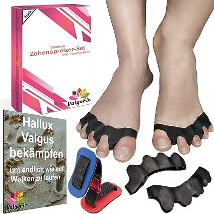 ValgoFit® [4x] Separador de dedos para el dedo en garra Hallux Valgus Juanete