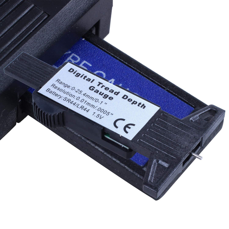 RETYLY Digital Tiefenmesser Messchieber Profiltiefenmesser LCD Reifen Profilmesser