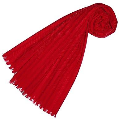 1b0516a46a4b64 Lorenzo Cana Luxus Damen Schal aus feinster Baumwolle mit Seide aufwändig  jacquard gewebte dezente Web Streifen