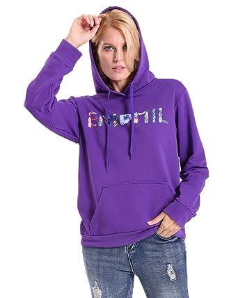 5640163f4081 Lightweight Hoodie Sweatshirt Pullover Tops (Purple