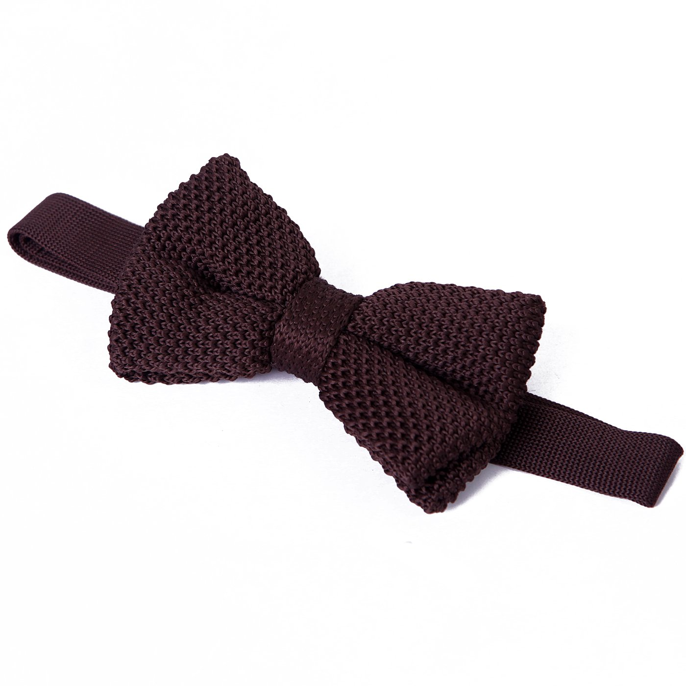 HDE Mens Vintage Fashion Trendy Adjustable Pre Tied Waffle Knit Woven Bowtie (Burgundy)