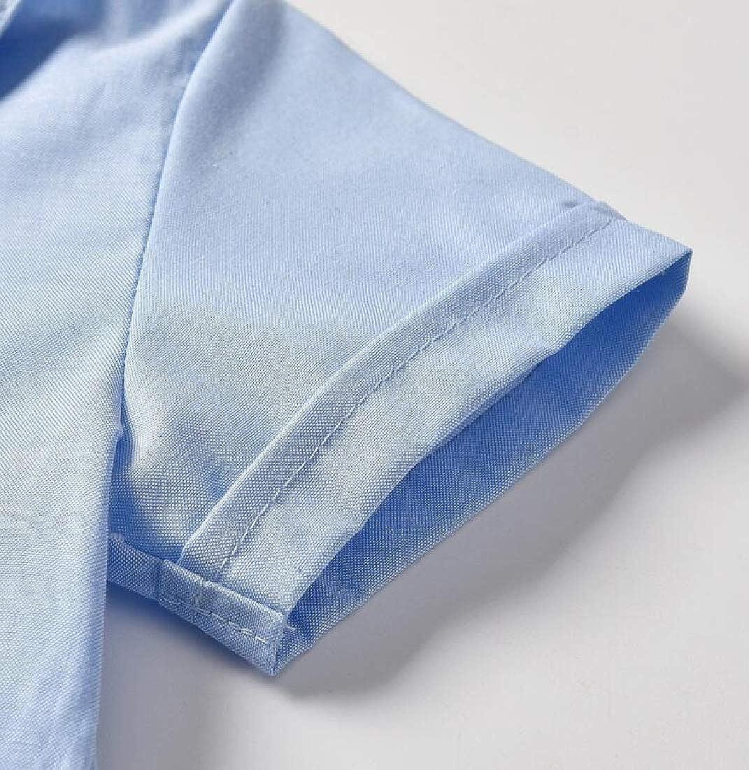 Joe Wenko Boys Lapel Pants Tracksuit Button Up Suspender Adorable Shirts