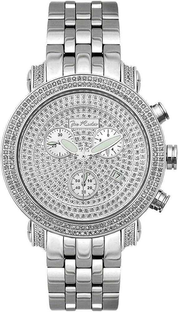 Joe Rodeo Diamante Hombre Reloj–Classic Plata 3.5Ctw