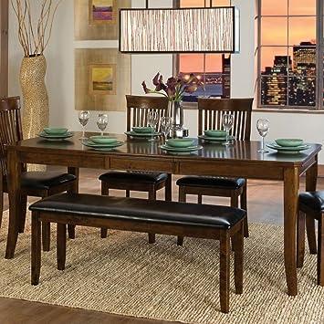 Astonishing Amazon Com Weston Home Alita Dining Table Warm Cherry Beatyapartments Chair Design Images Beatyapartmentscom
