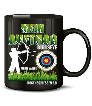 MEIN AUFTRAG BULLSEYE MEINE WAFFE Bogenschiessen 2.0 KaffeeBecher Teetasse