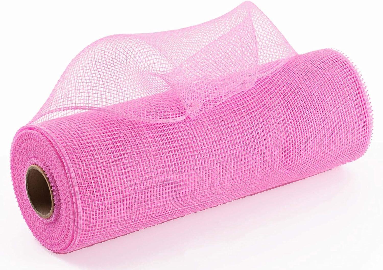 10 inch x 30 feet Deco Poly Mesh Ribbon - Value Mesh (Pink)