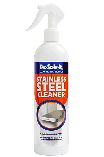 Amazon.com: De-Solv-It Limpiador de acero inoxidable 500 ml ...