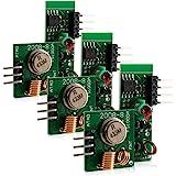 kwmobile 3X 433 MHz Sender Empfänger Funk Modul für Arduino und Raspberry Pi - Wireless Transmitter Module