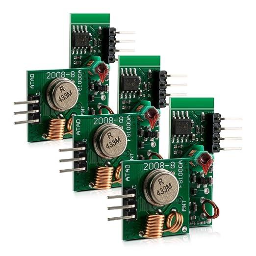 4 opinioni per 3x kwmobile ricevitore e trasmettitore wireless 433MHz modulo radio per