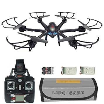 MJX X601H FPV RC Quadcopter Drone Big Bundle With Altitude Hold Wi Fi HD
