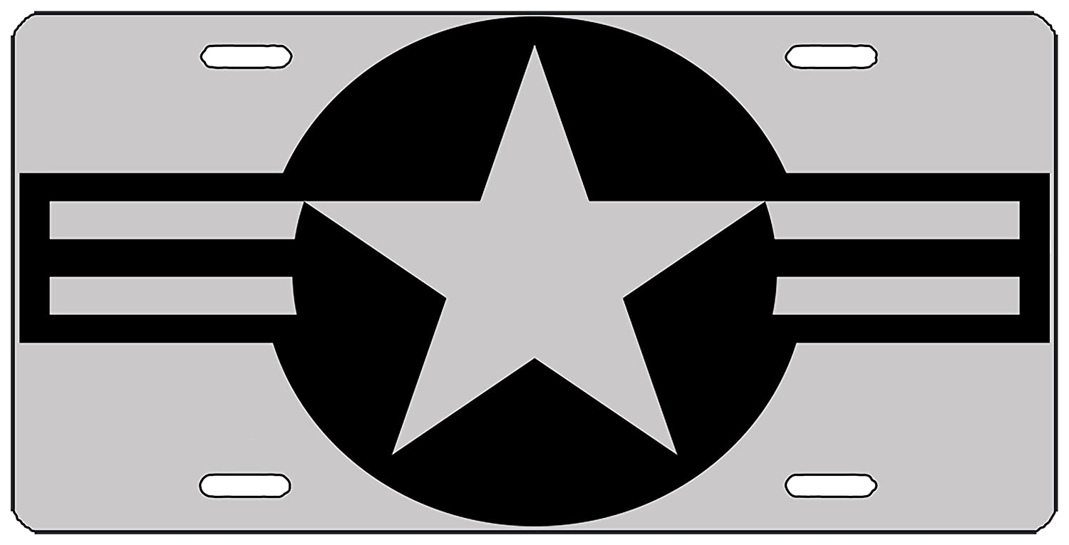 Rogue River Tactical USAF United States Roundel Subdued License Plate Novelty Auto Car Tag Vanity Gift American Patriotic Veteran USMC Air Force Army Navy KDWVMA1894