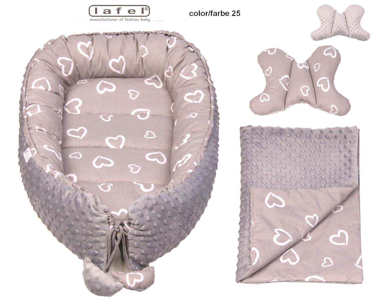 hergestellt in der EU Exklusives Baby Nest Reisebett Nest f/ür Babys Steckdose antiallergisch Mehrzweck-Nistkasten f/ür Babys und Kleinkinder 100/% Baumwolle Ma/ße: 80 cm x 50 cm x 15 cm