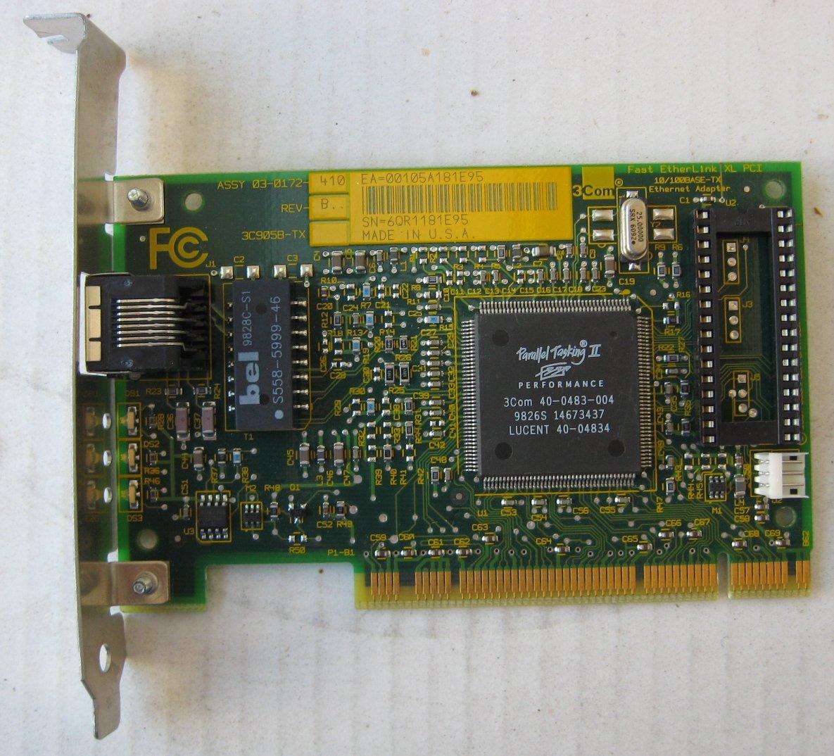 3C905B-TXNM FAST ETHERLINK XL PCI WINDOWS 8.1 DRIVERS DOWNLOAD