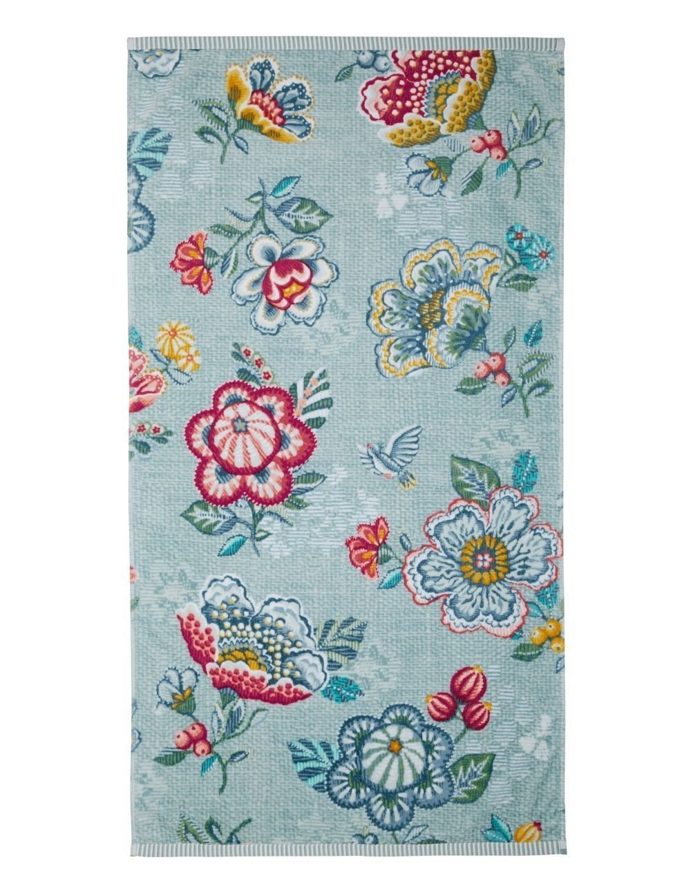 PiP Studio Handt/ücher Berry Bird Blue Waschhandschuh 16x22 cm