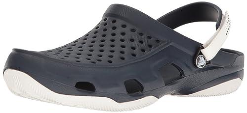 Crocs Swiftwater Deck Clog Men, Men Clog, Blue (Navy/White),