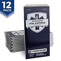 "EMT/First Responders Vital Statistics Notebook – 8"" x 4"" Medical Notebook for Vital..."