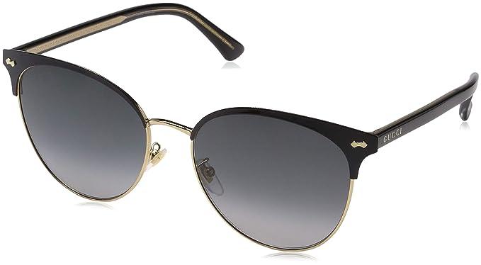 Gucci GG0198SK 002, Gafas de Sol para Mujer, Negro (2/Grey ...