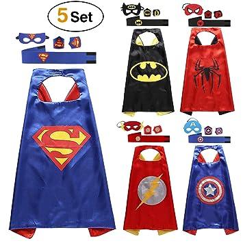 Lovne Comics Cartoon Superhelden Kostume Fur Kinder 5er Set Capes