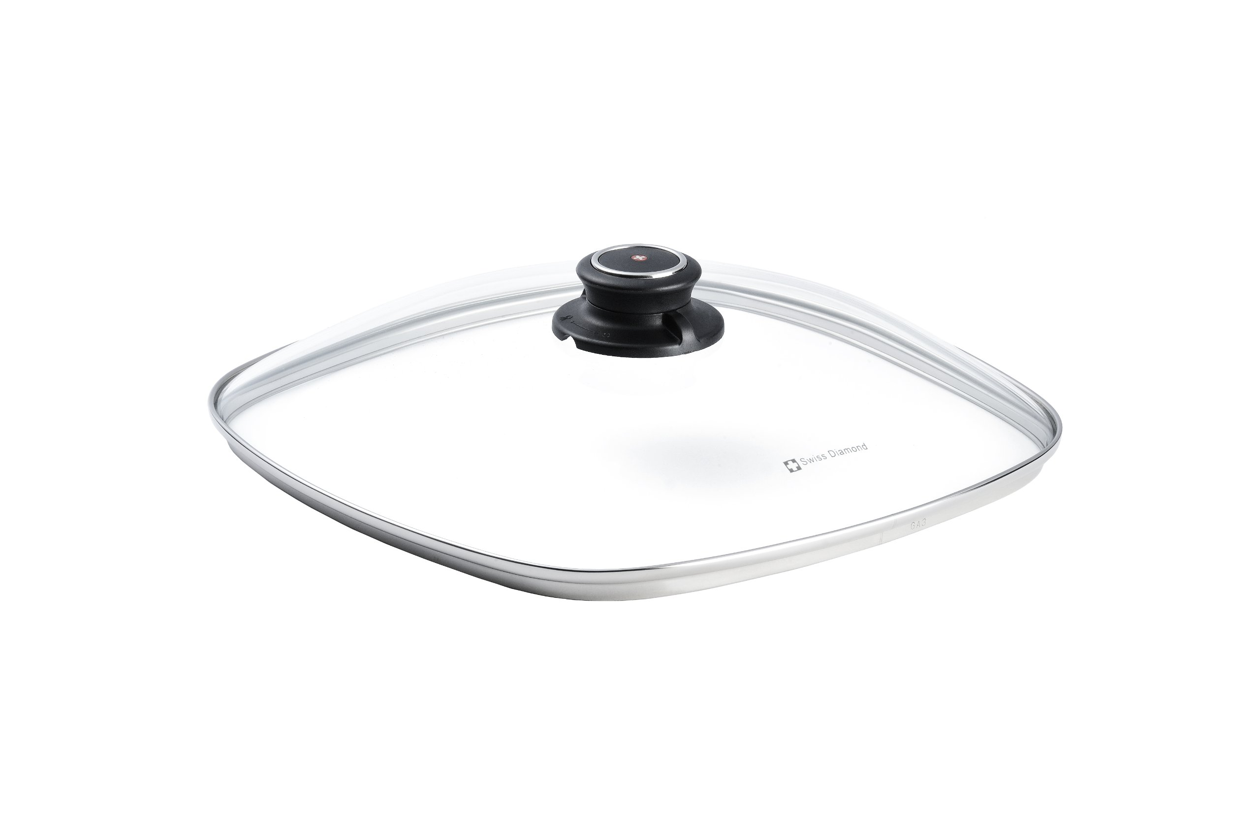 Swiss Diamond CS228 Square Tempered Glass Cookware Lid, 11 by 11-Inch