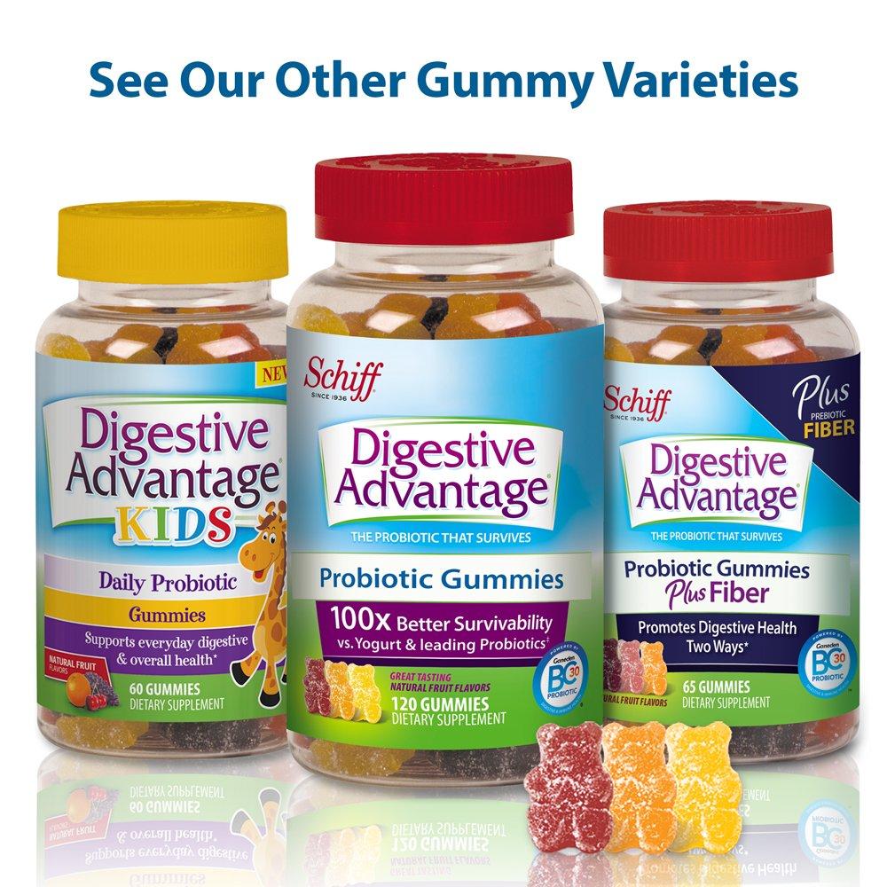 Digestive Advantage Probiotic Gummies Plus Fiber-65 ct by Digestive Advantage: Amazon.es: Salud y cuidado personal