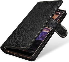 StilGut Talis Case Portafoglio, Custodia in Vera Pelle Cover per Nokia 7 Plus con Chiusura Magnetica, Nero