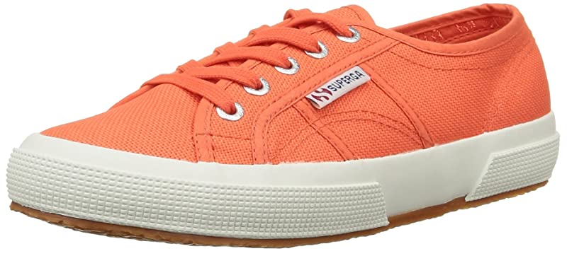 Superga 2750 Cotu Classic Sneakers Low-Top Unisex Damen Herren Rot-Orange