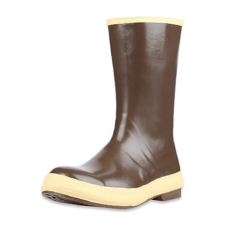 """Servus 12"""" Neoprene Soft Toe Men's Work Boots with Chevron Outsole Copper & Tan (22115)"""