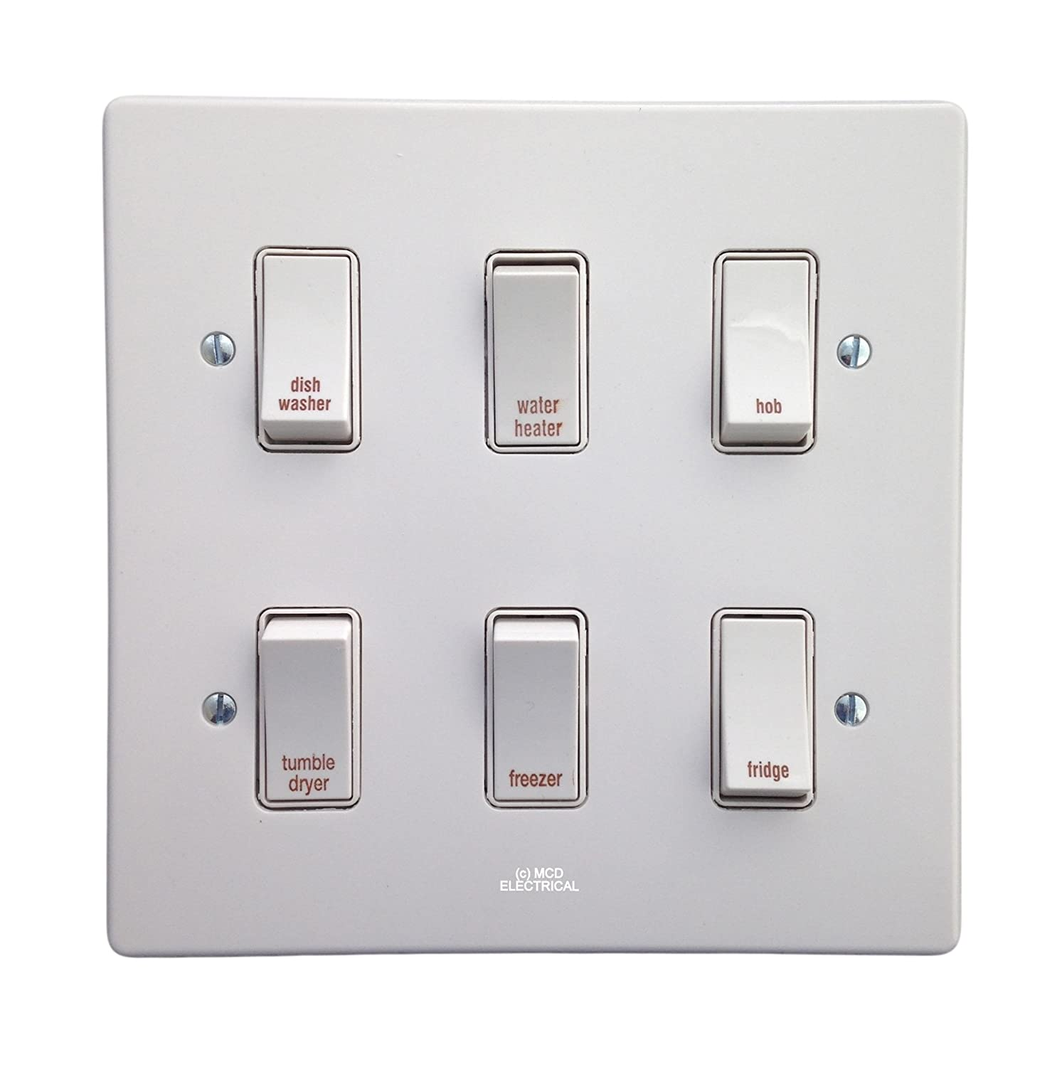 Crabtree Kitchen Grid Control Switch Large Appliances 4 Way Isolator