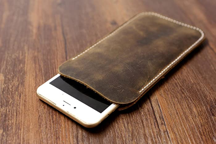 wholesale dealer 9da61 d9cbc Distressed Brown leather iphone 6s case / iphone 6s sleeve pouch / iphone  6s plus case sleeve / women men iphone sleeve - IPS005S