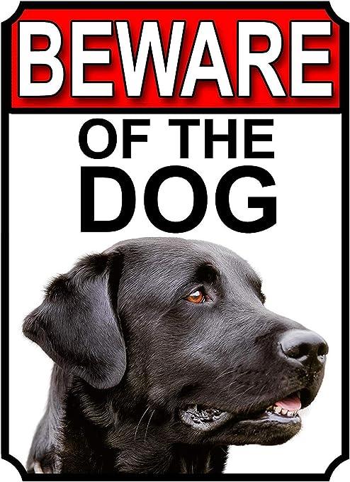 NOT Beware of The Dog Placa de Cartel de Chapa Vintage Retro ...