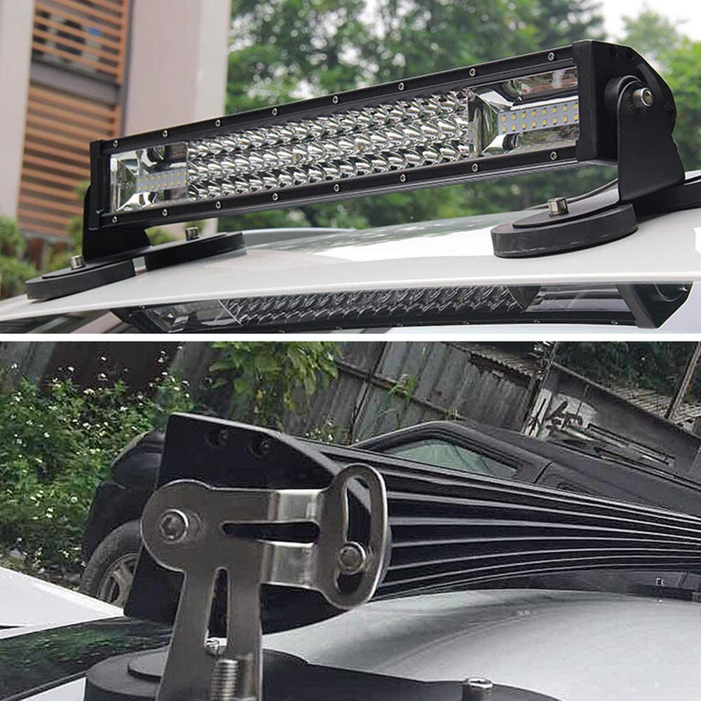 Car Lamp Brackets,2Pcs Universal Car Roof LED Light Bar Mounting Bracket Strong Magnetic Work Light Bracket Bumper Lamp Holder for Off-road Car,Truck 4WD,SUVs #CDDCXZJ