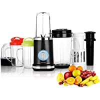 Geepas 380W Smoothie Maker | 4 in 1 Blender Machine with 2 Travel Sport Mugs, 2 Cups & 1 Jug BPA-Free Ideal Blenders for Smoothies and Shakes | Ice Crusher Grinder Juicer Pusher – 2 Years Warranty