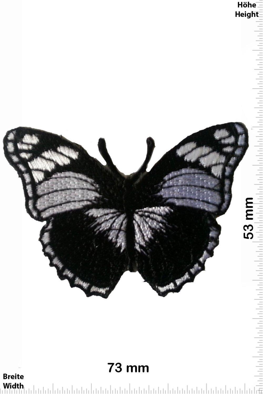 Butterfly,Papillon,Schmetterling Oldschool Patch zum aufb/ügeln Aufn/äher Iron On schwarz Schmetterling Oldschool