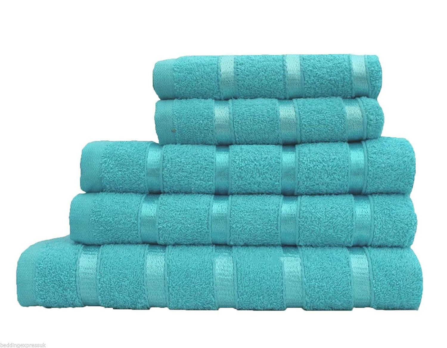 T/&A Traders 100/% Egyptian Cotton Hand Towel Bath Towel And Bath Sheet 5PC Set Or Only Bath Towels Or Bath Sheets Available in 14 Vibrant Colours 1xBath Towel, Black