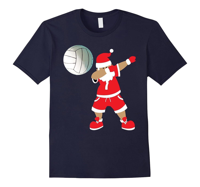 Funny Volleyball Dab Shirt Dabbing Santa Claus T-Shirt