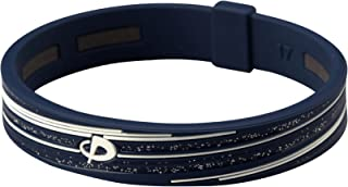Phiten Slashline Titanium Bracelet, Bleu marine/blanc, 17cm (17cm) 17cm (17cm) PHI-TEN USA Inc TG714225