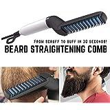 Uchada 2019 Quick Beard Straightener Multifunctional Hair Comb Curling Curler Show Cap Men
