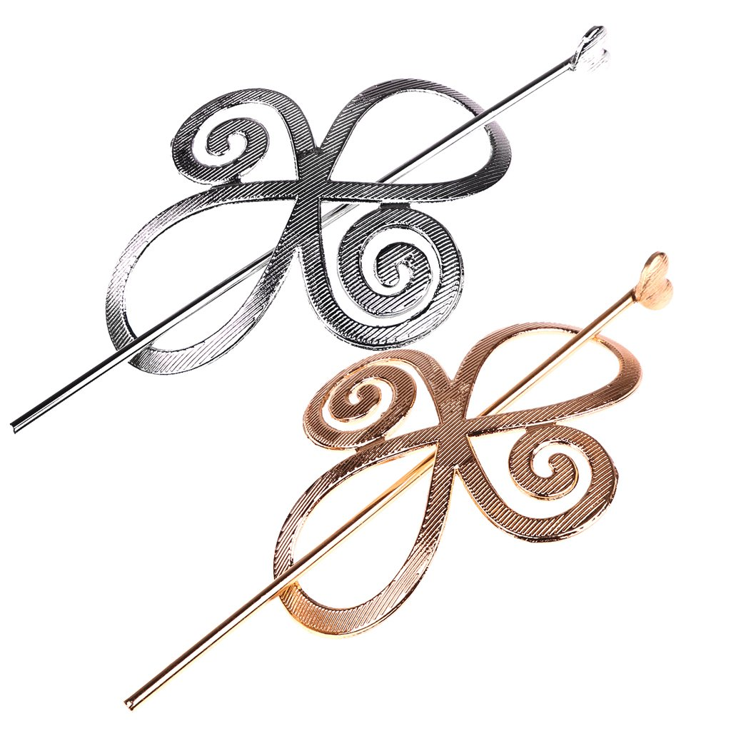 MonkeyJack 2 Pieces/ Set Gold Silver Hollow Geometric Flower Metal Hairpin Hair Clip Clamps Lady Hair Jewelry