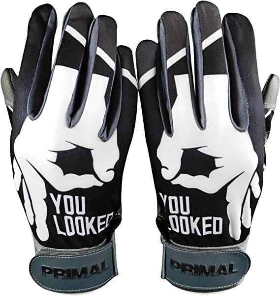 PrimalBaseball Youth Batting Gloves for Sports Players White//Black C1COOP G.O.A.T