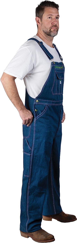 Liberty Men's Stonewashed Denim Bib Overall: Clothing