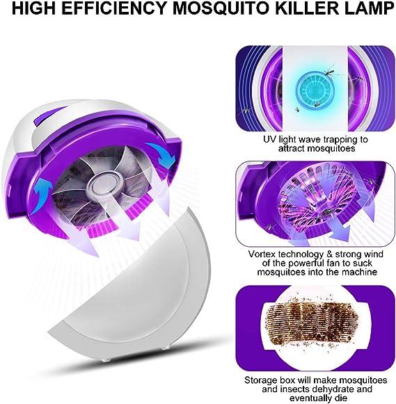 Impermeable UV Mosquitera El/éctrica Port/átil 2 en 1 Asesino de Mosquitos AODOOR L/ámpara Antimosquitos Mosquito Killer Mata Mosquitos Electrico con L/ámpara De Camping y Linterna