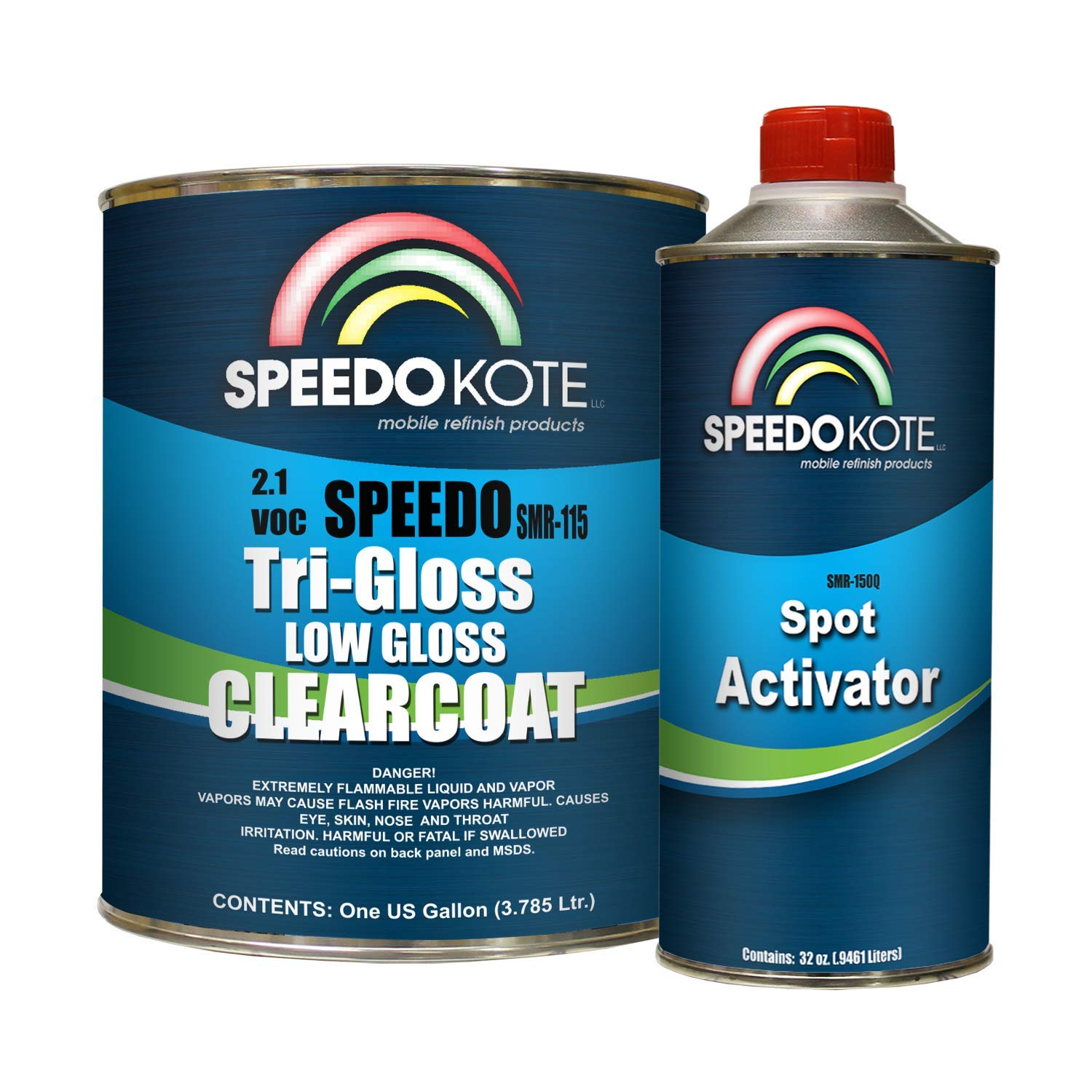 Speedokote SMR-115/150-K-M - Low Gloss 2.1 VOC urethane clear coat, gallon kit Clearcoat with medium speed activator by Speedokote (Image #1)