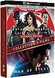 BATMAN VS SUPERMAN / MAN OF STEEL - Coffret 2 Films - Blu-Ray 4K - DC COMICS