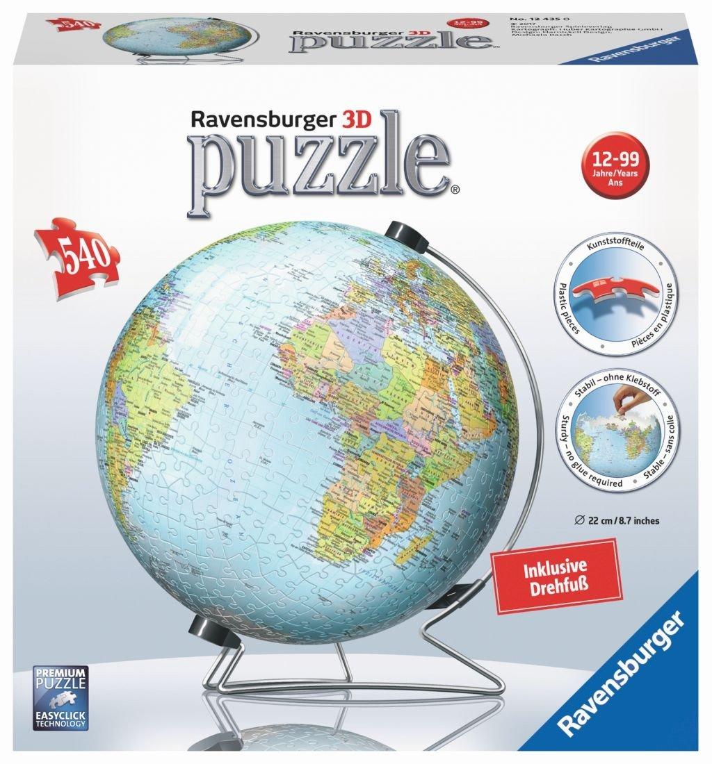 Ravensburger 12435 Globus in deutscher Sprache 3D-Puzzle Ravensburger Spielverlag Spielen / Raten Non Books Puzzles (3D-Puzzles)